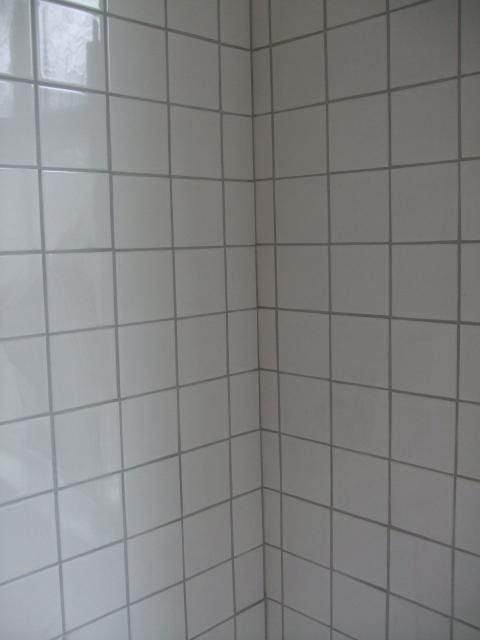 How to update that old bath tile without replacing it white tile with grey grout home for Update bathroom tile without replacing