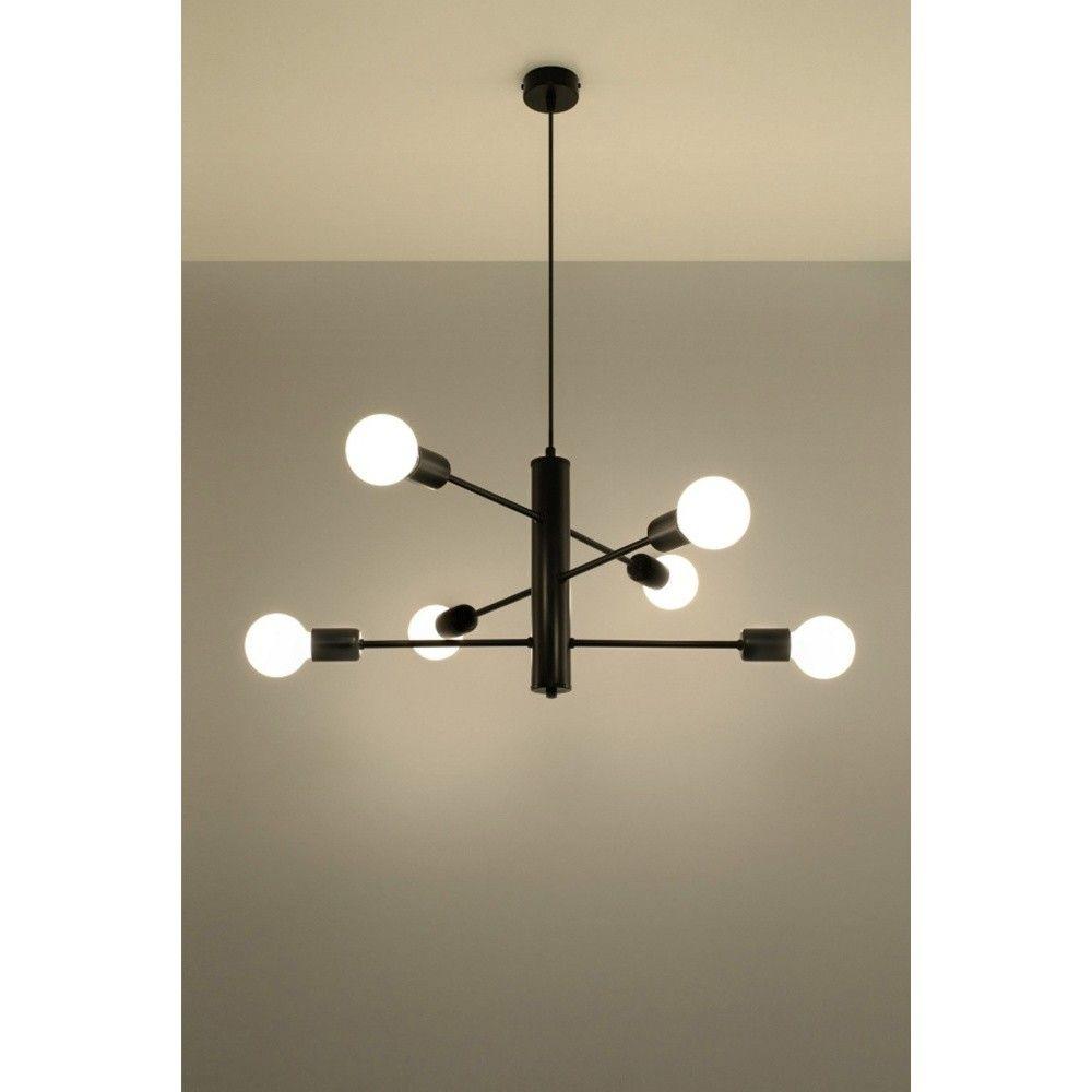 Czarna lampa wisząca Nice Lamps Donato 8  Lampe, Deckenlampe