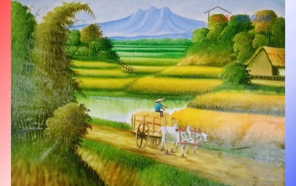 Fantastis 30 Lukisan Pemandangan Alam Sawah Lukisan Pemandangan Sawah 071018 Indah Dan Menawan Download Gambar Lukisan Pemanda Di 2020 Pemandangan Lanskap Gambar