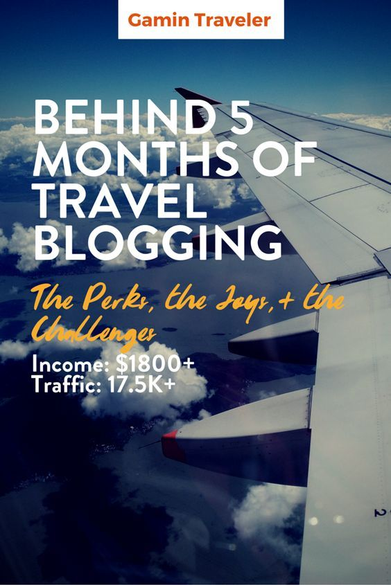 Monthly Report Behind 5 months of Travel Blogging, earning more - business monthly report
