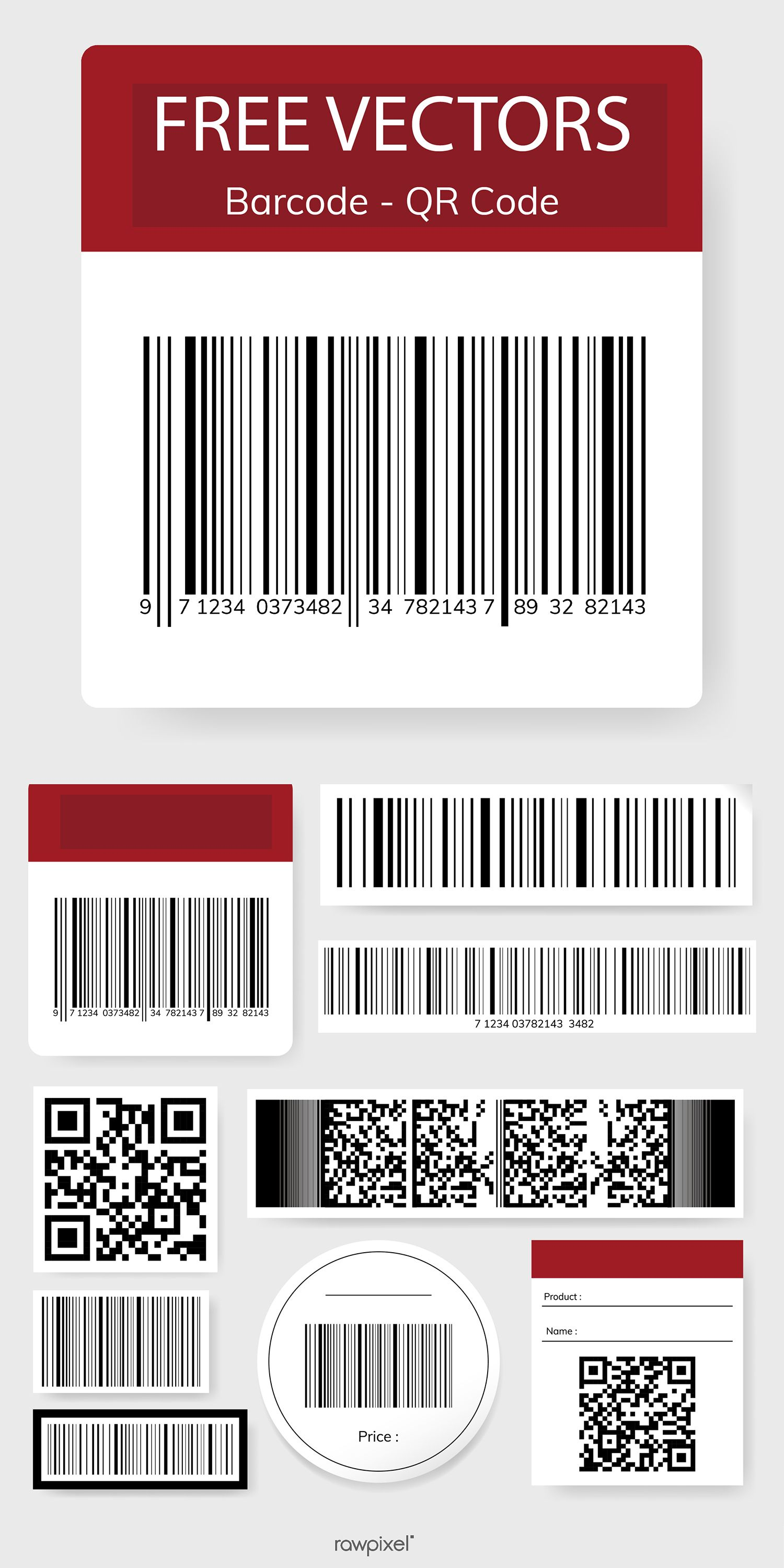 Download This Set Of Barcode And Qr Code Vectors As Well As Other