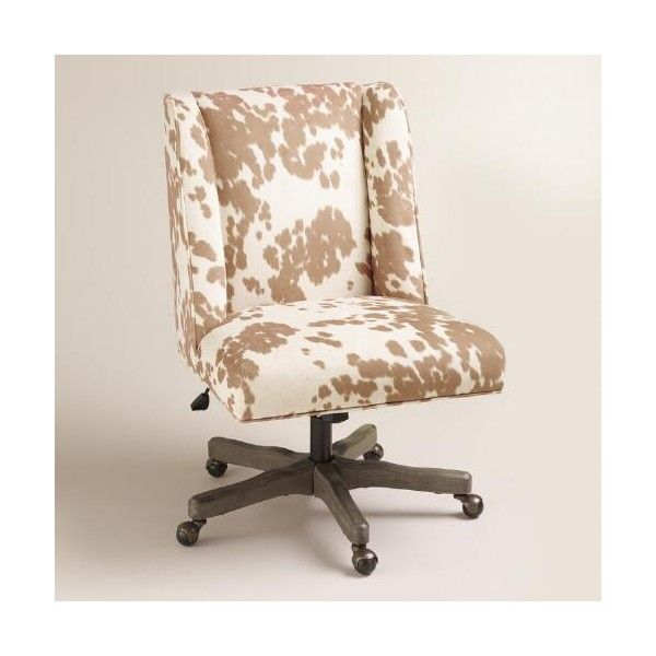 Cost Plus World Market Palomino Ava Upholstered Office Chair 180 Liked On Polyvore