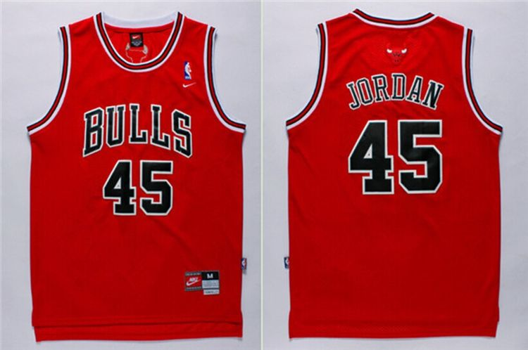 Michael #Jordan 45 Chicago Bulls Red #Jersey. Stitched name and numbers.  $16.88