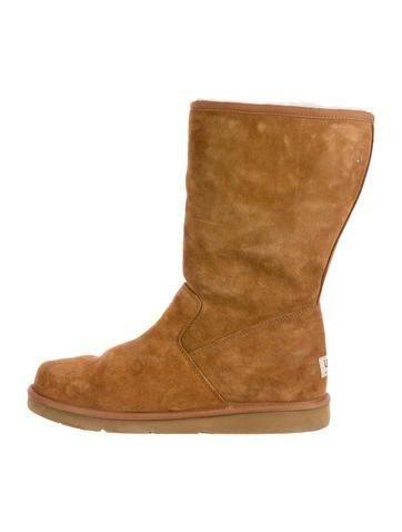 #The RealReal - #UGG Australia UGG Australia Suede Shearling Boots - AdoreWe.com