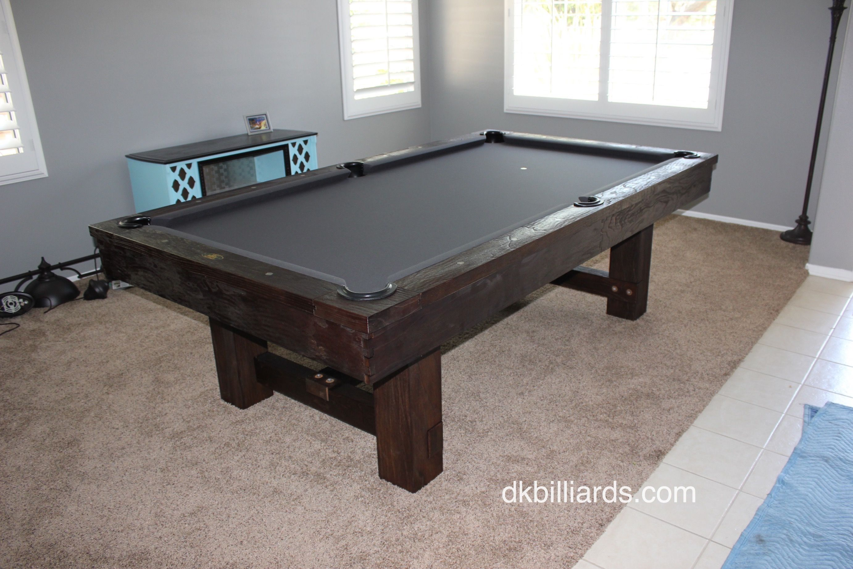 Pottery Barn Style Rustic Pool Table Rustic Pool Tables - Pool table movers orange county
