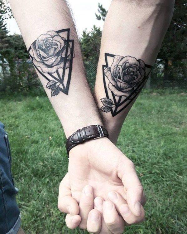 Matching Couple Tattoo Designs. #match #couple #tattoos #tattoodesign #tattooidea #style #women #womensfashion #fashion #outfitcafe