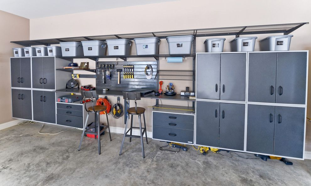 We Share Ikea Garage Storage Garage And Shed Contemporary With Bow