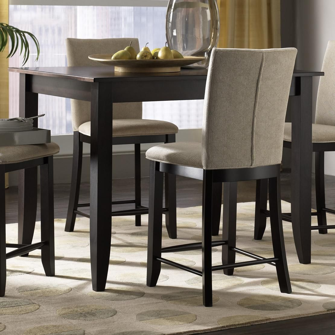 Custom Dining - High Customizable Rectangular Counter Height Table Canadel Riverview
