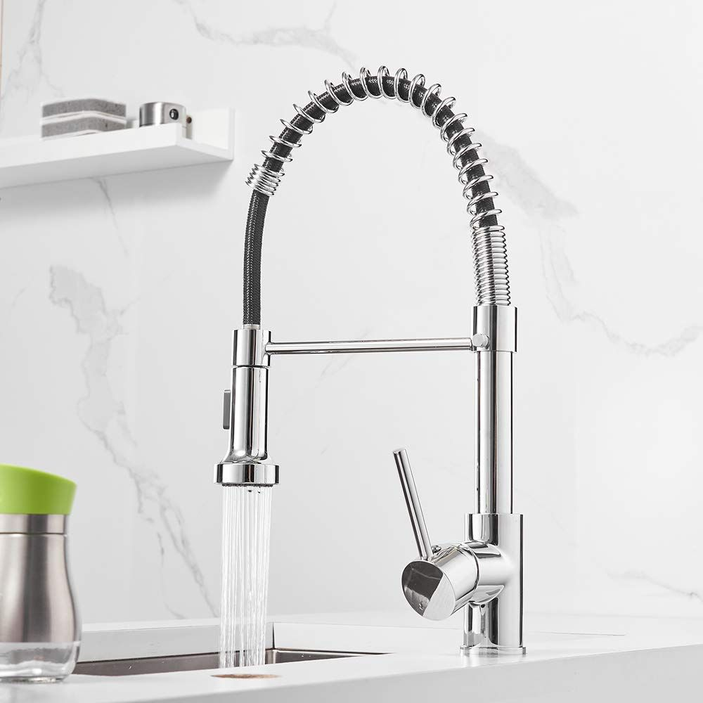 Spring Kitchen Sink Faucet Owofan Lead Free Commercial Solid Brass