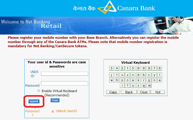 How To Activate Internet Banking In Canara Bank Banking Internet Activated