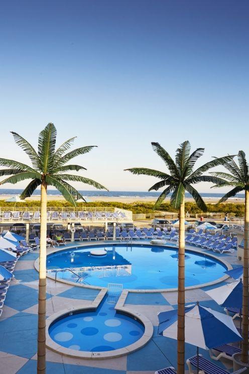 Pan American Hotel Pool In Wildwood Nj