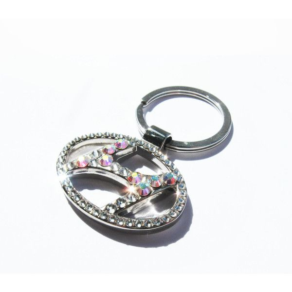 Hyundai Keychain Keyring Encrusted In Genuine Swarovski Element