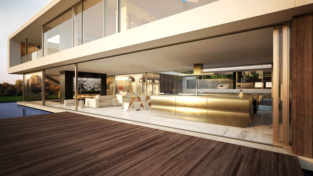 Architectural Rendering Architectural Visualization Of A Luxury House In Palos Verdes Los Angeles Luxury House Architecture Los Angeles Homes