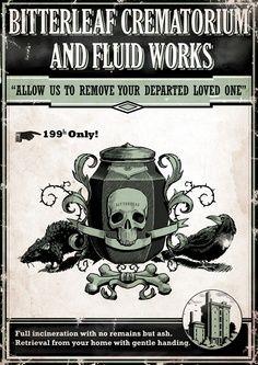 Dishonored In-game Art - Advertisement - Bitterleaf Creamatorium ...