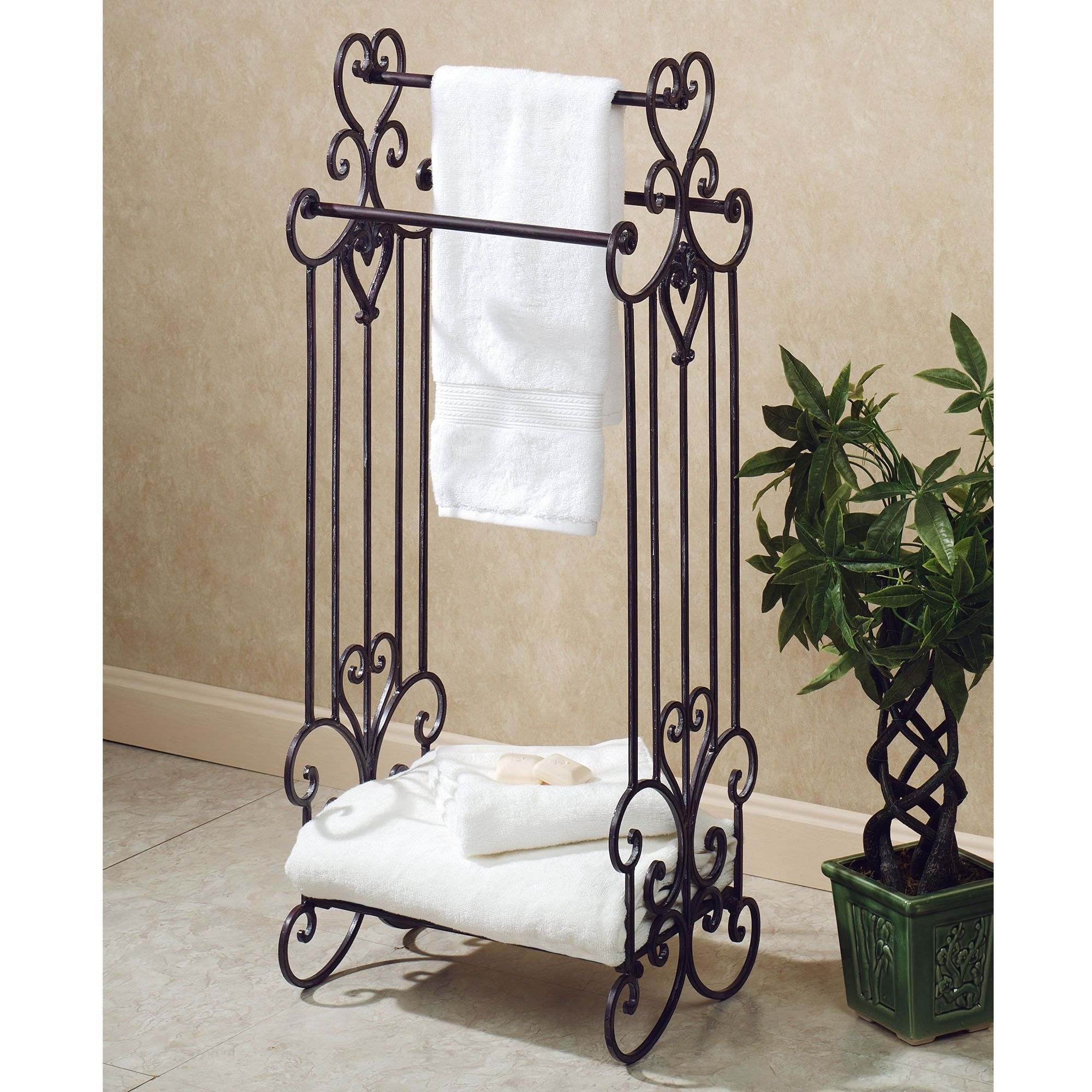 Standing Towel Rack For Small Bathroom