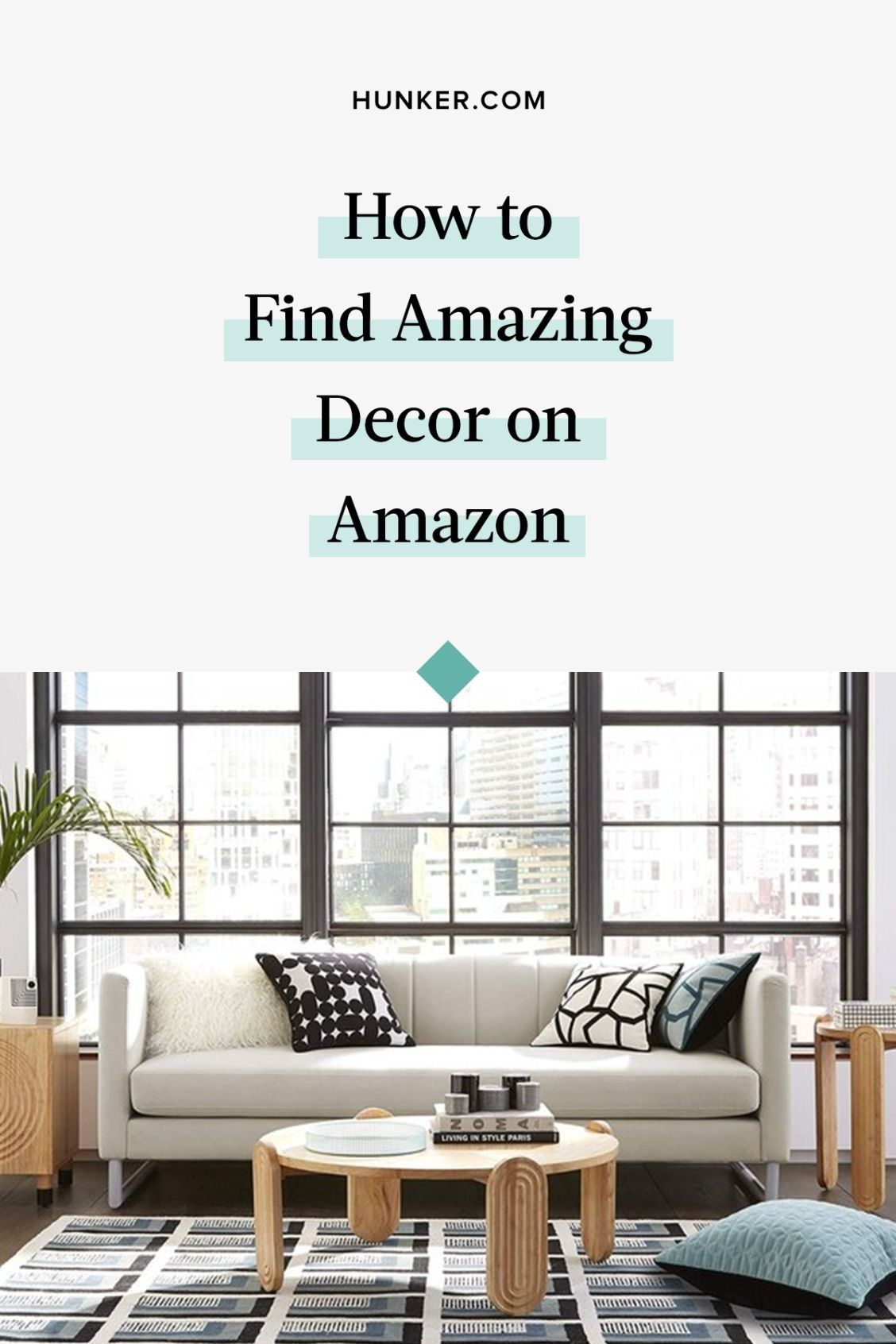 Smart tips for shopping on Amazon for home goods, from gift guides to style resources and Amazon's Scout and Assistant features. #hunkerhome #amazon #amazondeals #amazondecor #decordeals