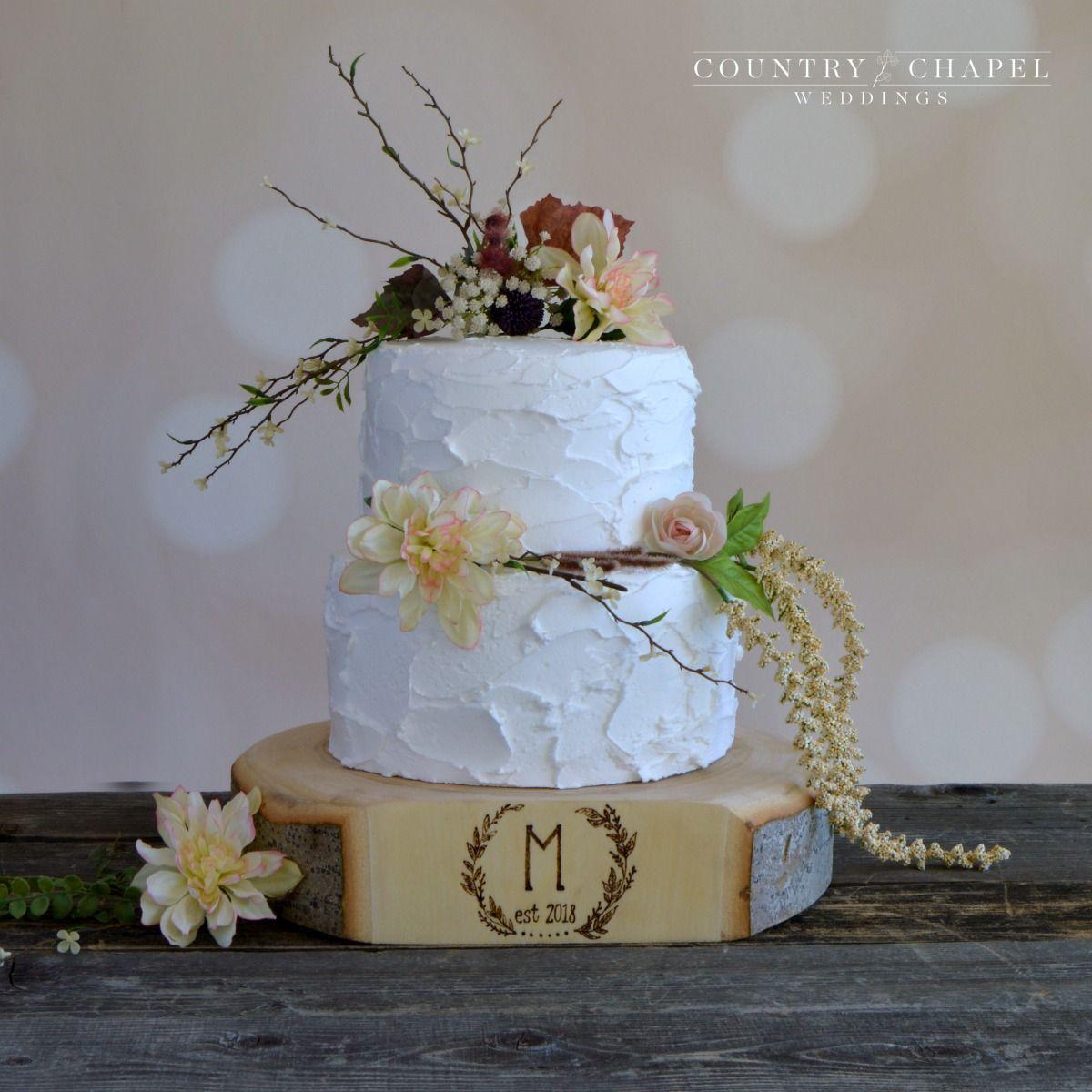 Monogrammed wreath cake stand rustic wedding pinterest wedding