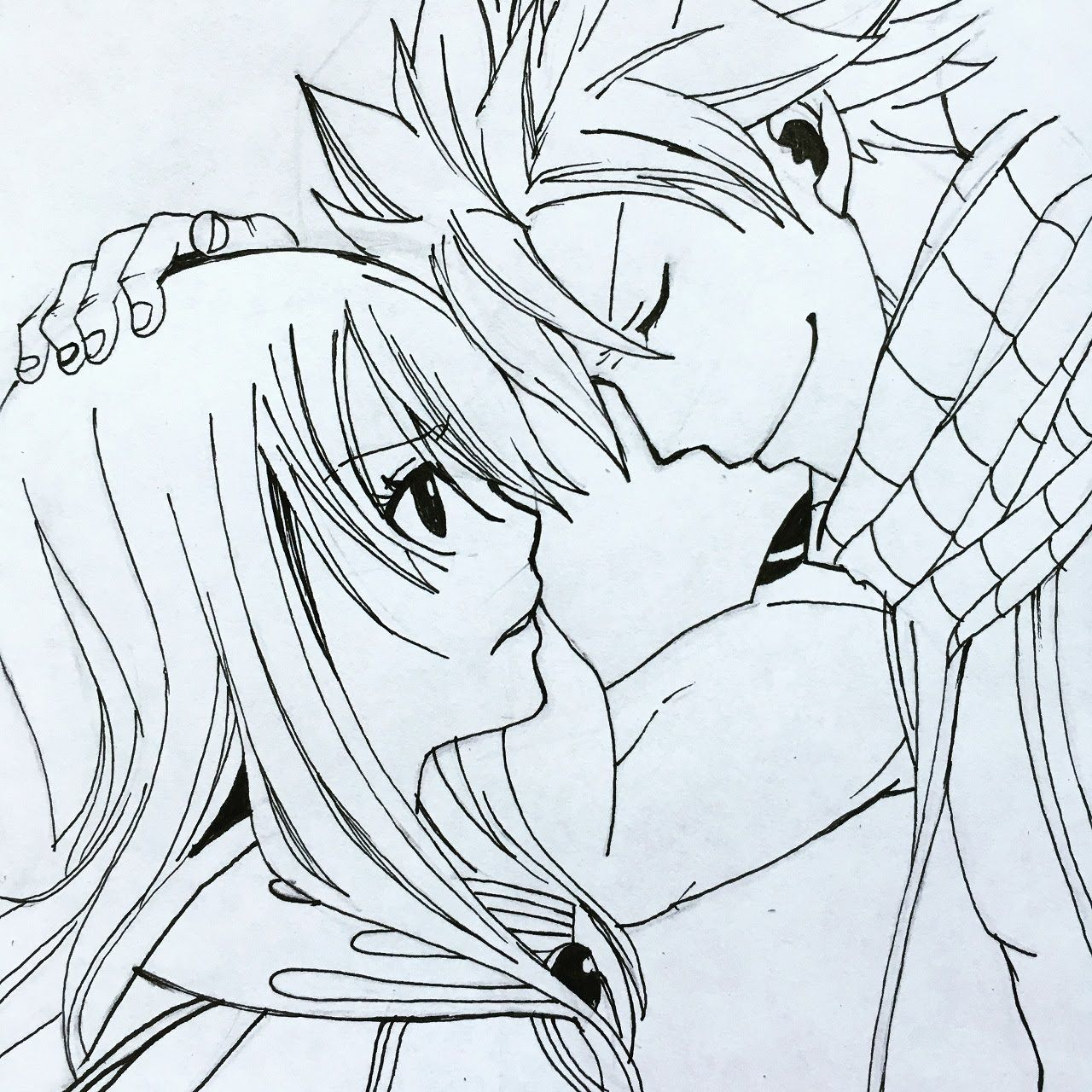 How To Draw Nalu Step By Step Tutorial Drawings Nalu Anime Drawings