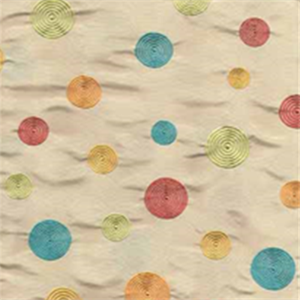 Circles Simply Pearl Faux Silk Drapery Fabric by Claridge buyfabrics.com Kid's playroom!