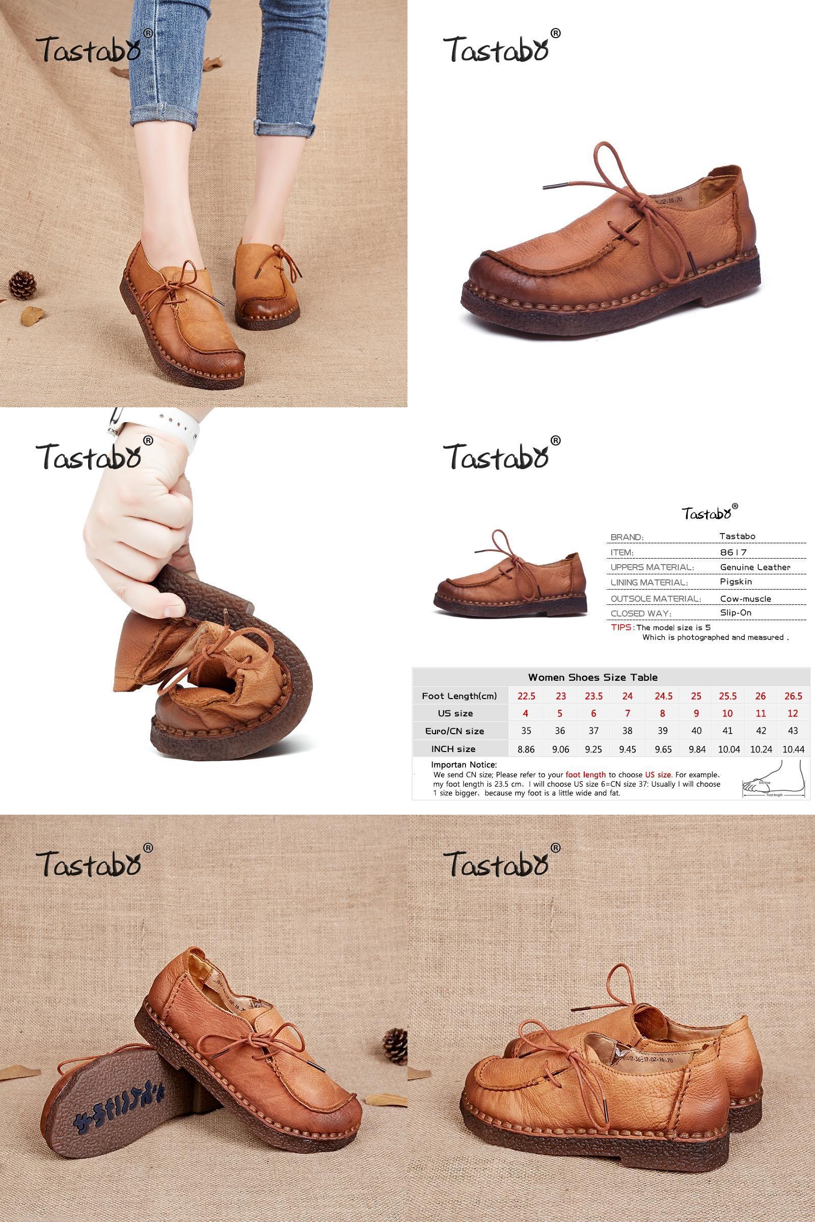 [Visit to Buy] Tastabo Handmade vintage women shoes genuine leather female  moccasins loafers soft