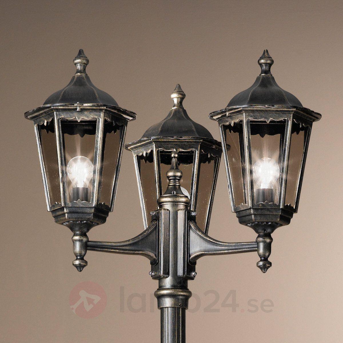 Trearmad stolplampa Fabio 255 cm beställ säkert & bekvämt på Lamp24.se.