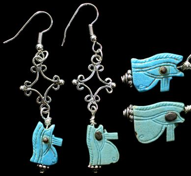 ancient century egypt earrings egyptian