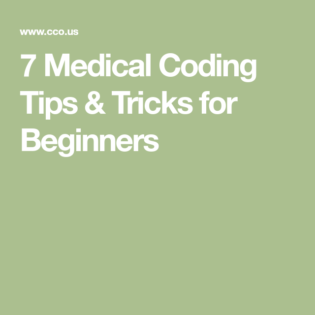 Medical Coding Tips  Tricks For Beginners  Nursing Health