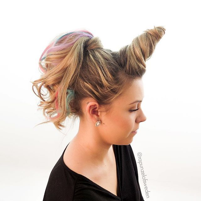 unicorn hair; crazy hair day