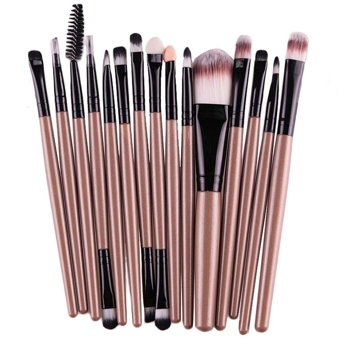 63bfef3959b4 Tenworld Pro 1 Set of 15 PCS Eye Shadow Foundation Eyebrow Lip Brush ...