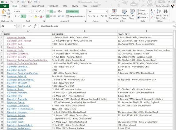 Ancestoring Excel Trick  Genealogy    Genealogy