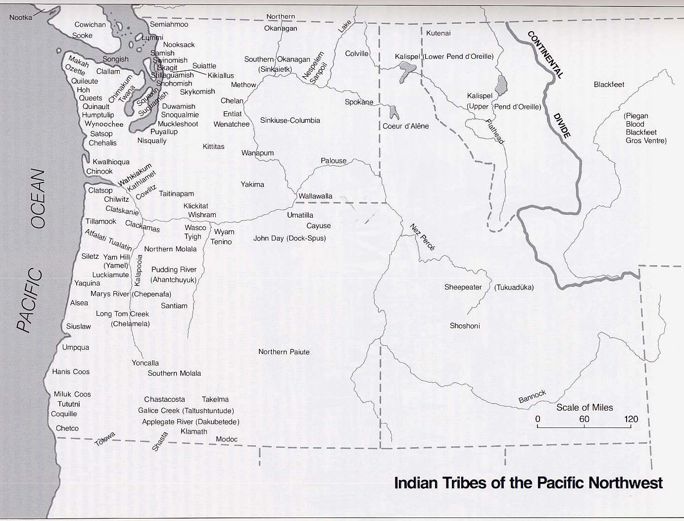 Pacific Northwest Coast Tribes Map