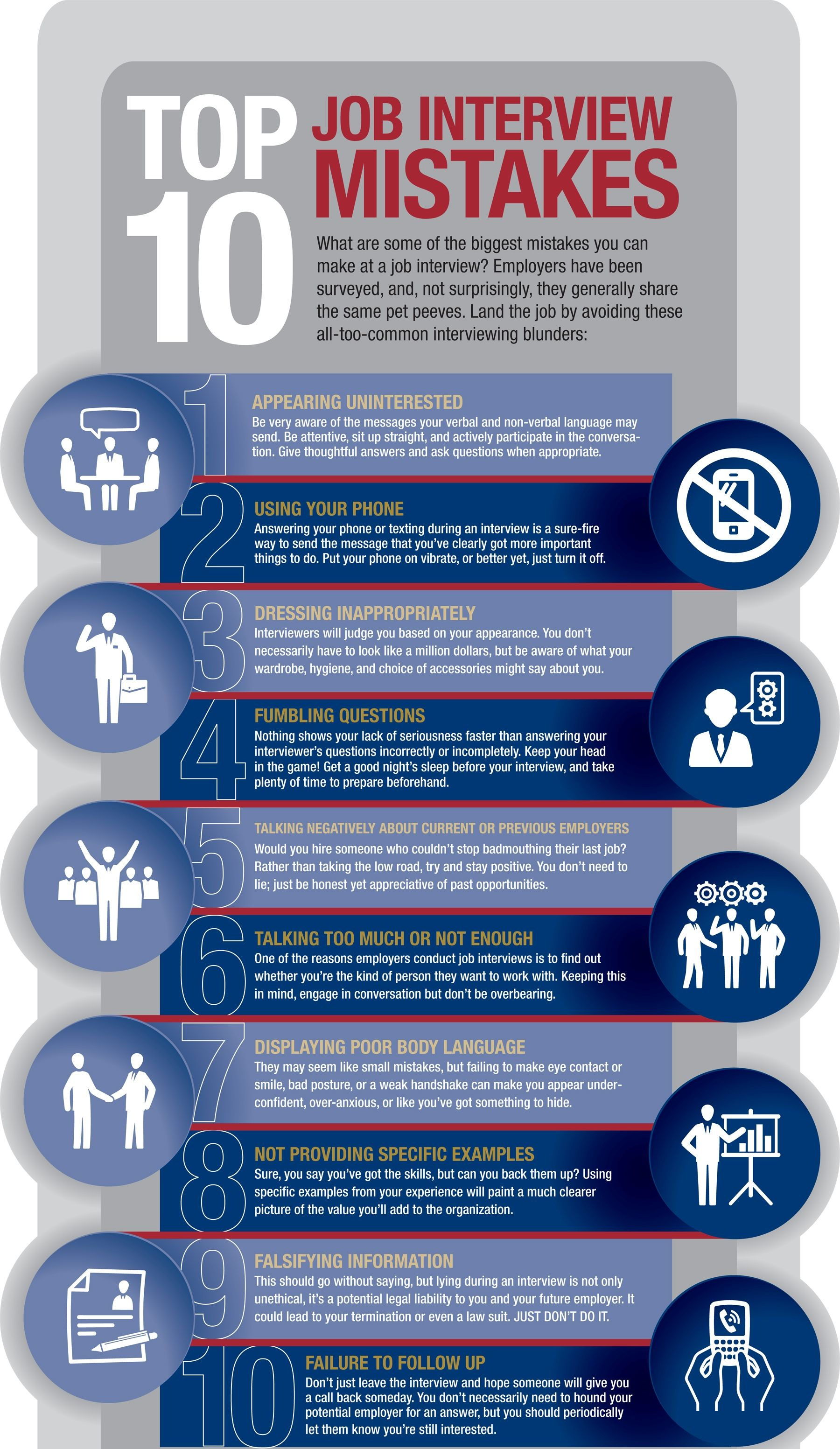 Top 10 Job Interview Mistakes Interview Tips Advice Pinterest