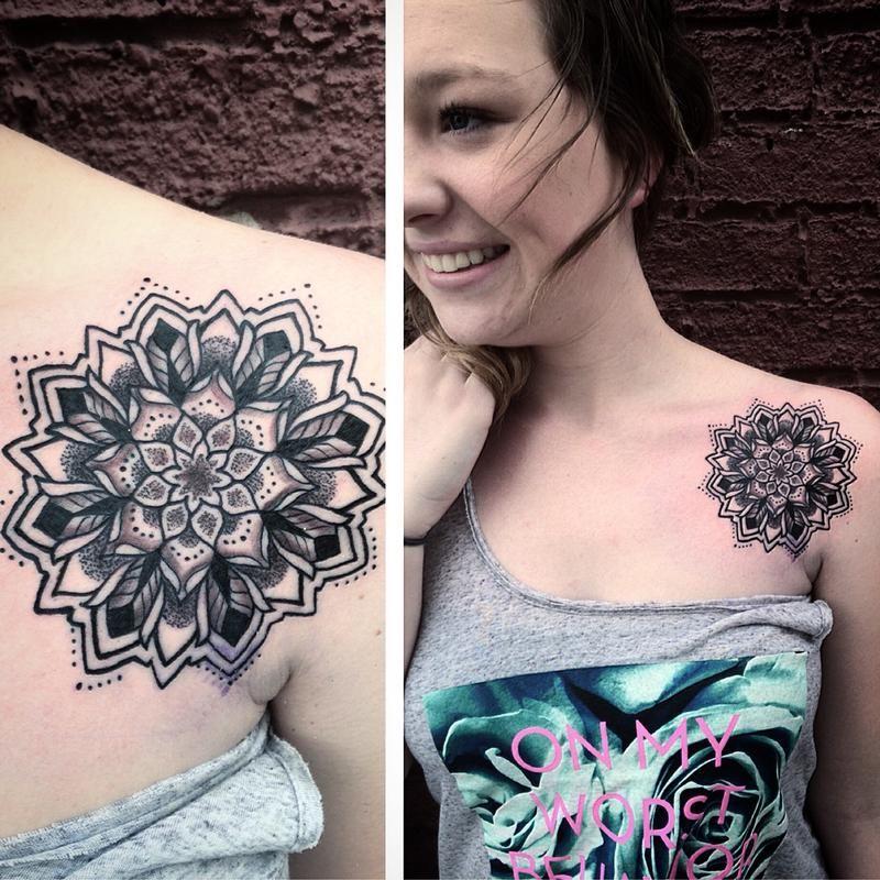 Front Shoulder Mandala Tattoo Google Search Tattoos Front Shoulder Tattoos Mandala Tattoo