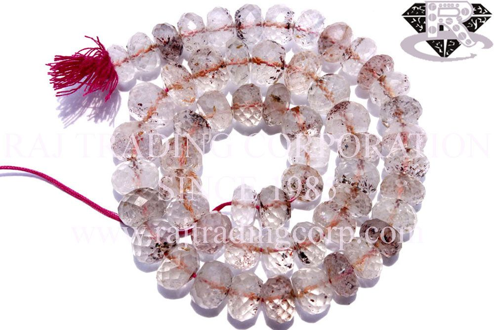 Lepidochrosite Quartz Faceted Roundel (Quality A) Shape: Roundel Faceted Length: 36 cm Weight Approx: 45 to 47 Grms. Size Approx: 9 to 10.50 mm Price $69.00 Each Strand