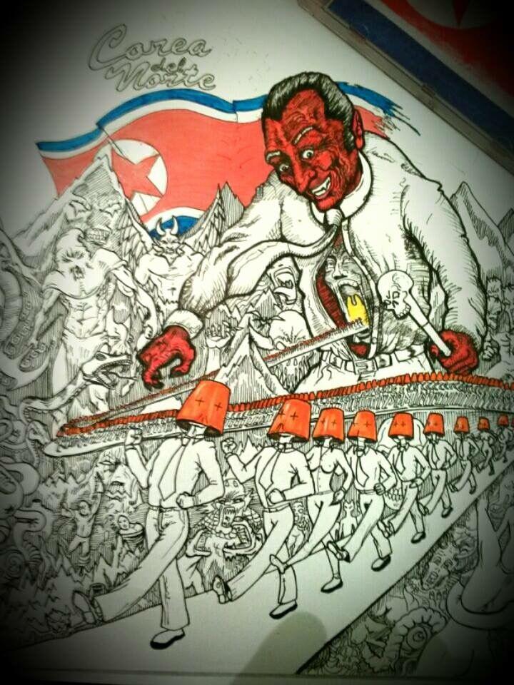 """Arte de tapa banda """"Corea del norte"""""""
