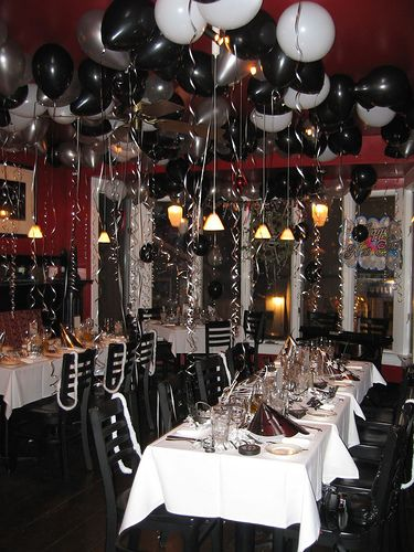 Black and white theme party white party ideas to for Images of all white party decorations