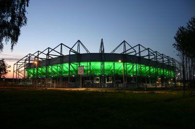 Borussia Park Stadium In Monchengladbach Germany Sports Stadium Football Stadiums Around The Worlds