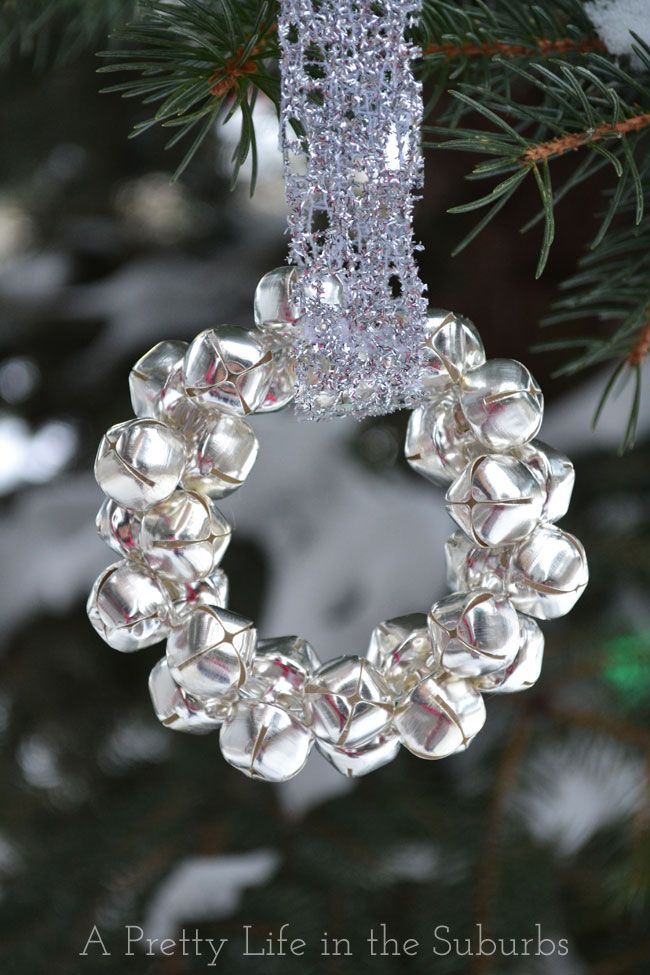 Silver Bells Decorations Easy Silver Bells Wreath Ornament Silver And Gold Blog Series