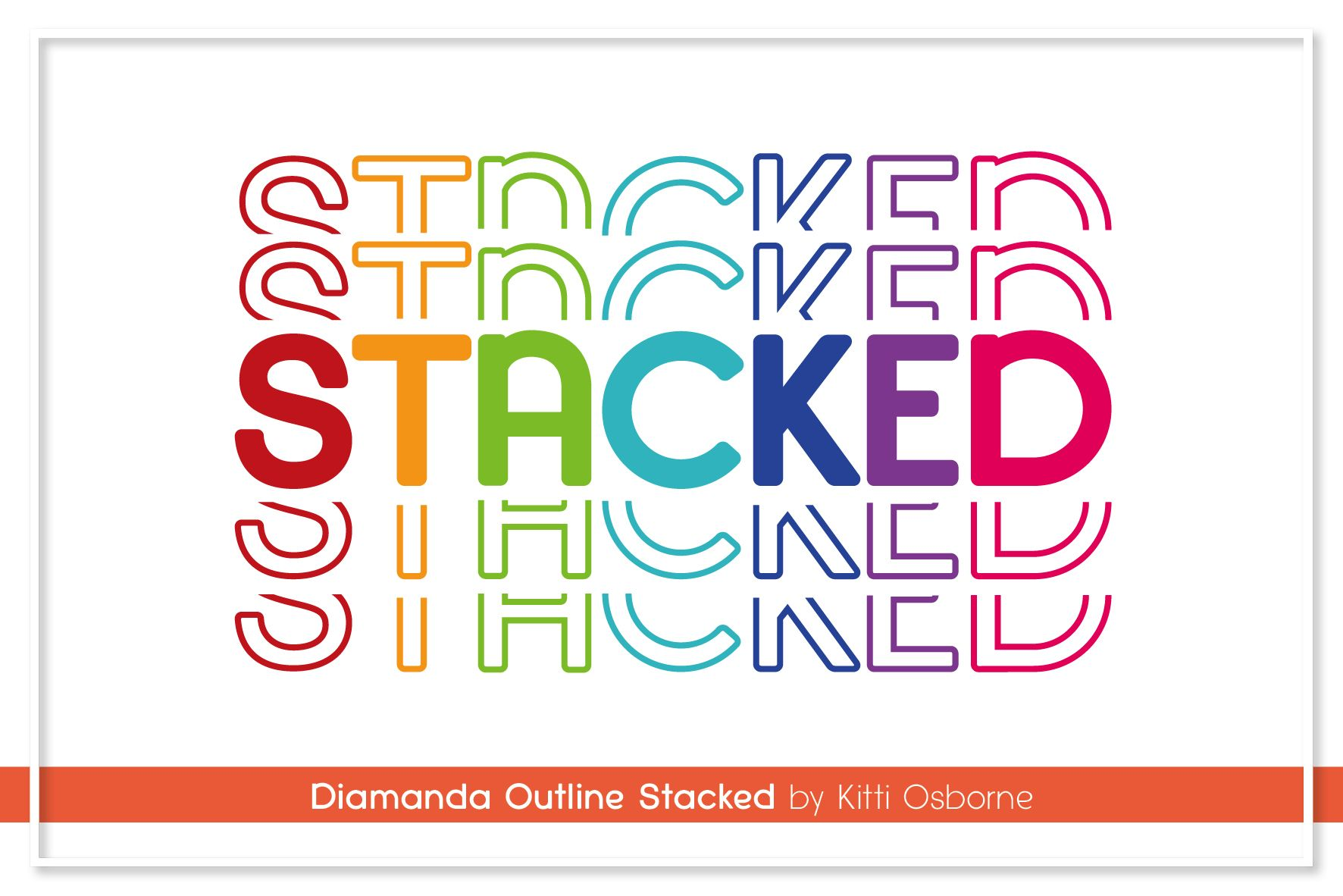 Diamanda Stacked Retro Font Premium fonts, Fonts