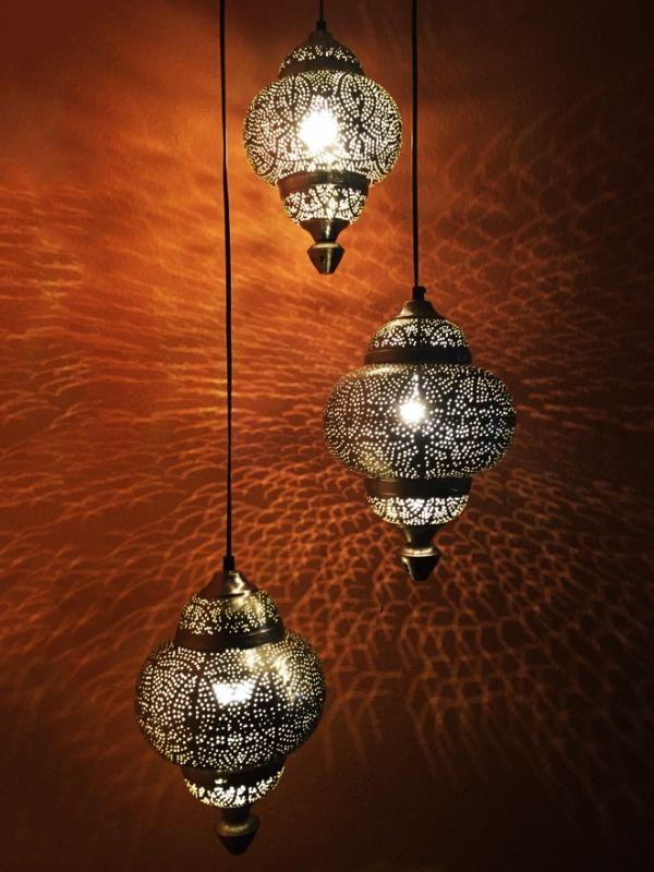 Orientalische Hangeleuchte Silberfarbig Tiara Xxl 155cm Aus Metall Glas Deckenlampen Han Orientalische Lampen Lampen Und Leuchten Lampe