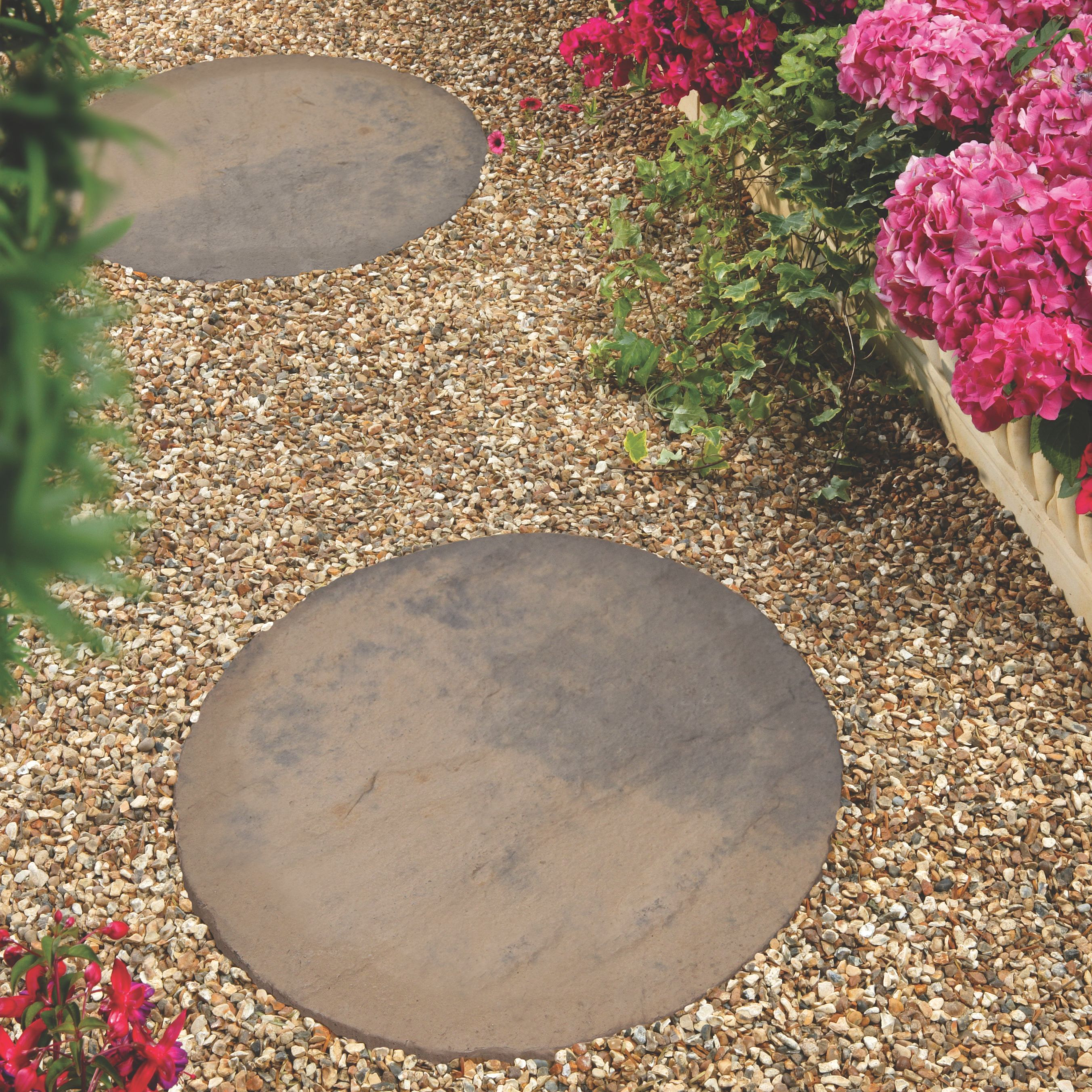 York Brown Stepping Stone   Stone, Brown and Garden ideas