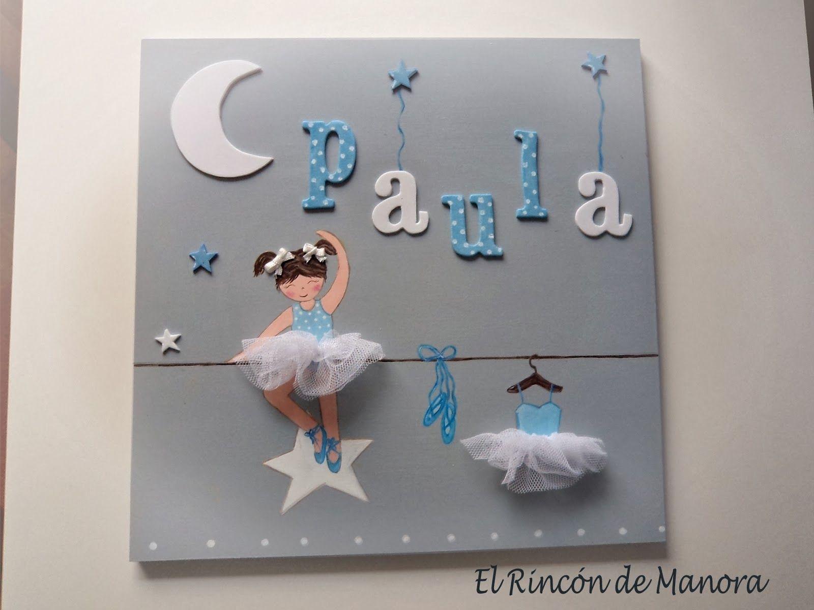 Cuadro bailarina azul cuadros y espejos infantiles by for Espejos infantiles