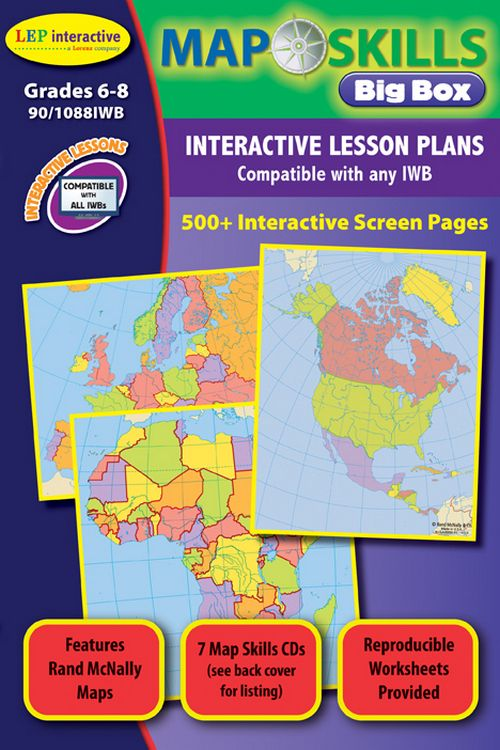 The map skills interactive whiteboard series introduces grade 6 8 the map skills interactive whiteboard series introduces grade 6 8 students to our world gumiabroncs Image collections