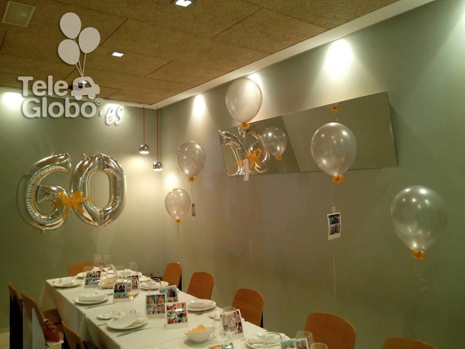Decoraci n con globos para 60 cumplea os proyectos for Decoracion bodas valencia