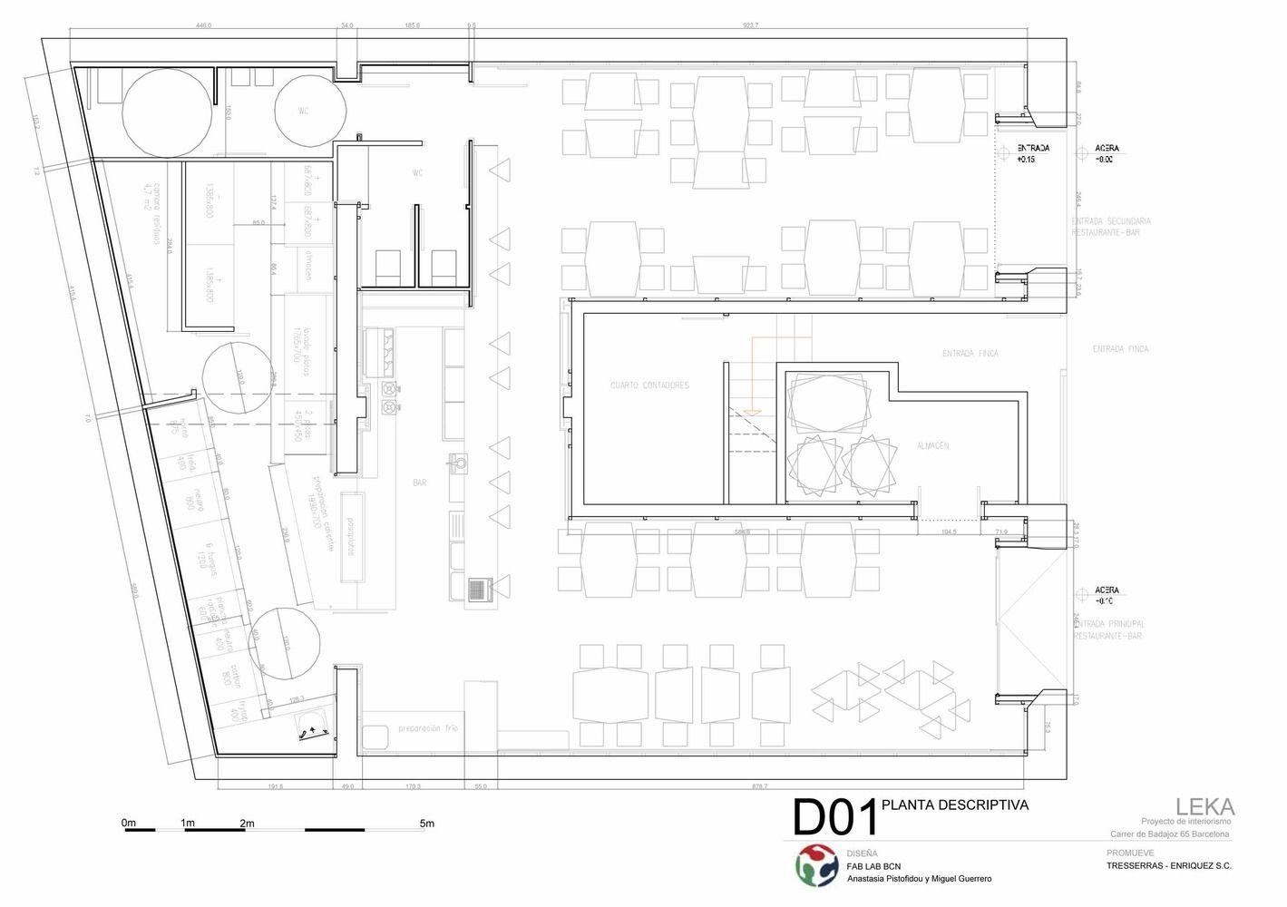 Galeria De Leka Open Source Restaurant Iaac Fab Lab Barcelona 17 Cafe Floor Plan Restaurant Architecture Floor Plan Design