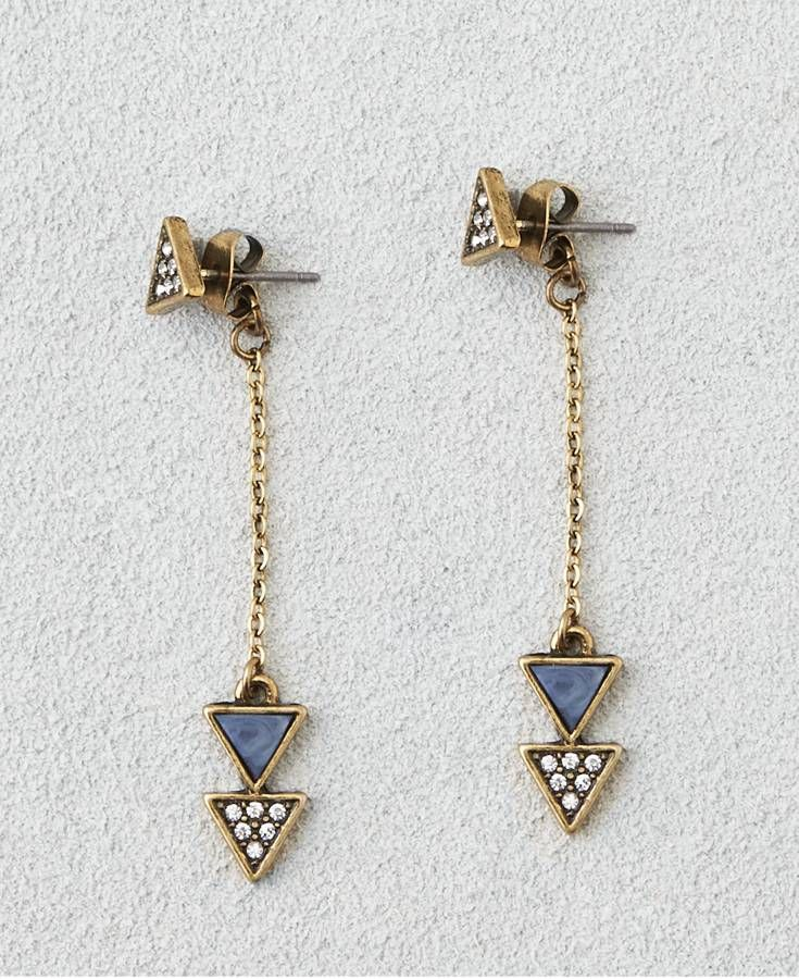 American Eagle Lapis Triangle Earrings