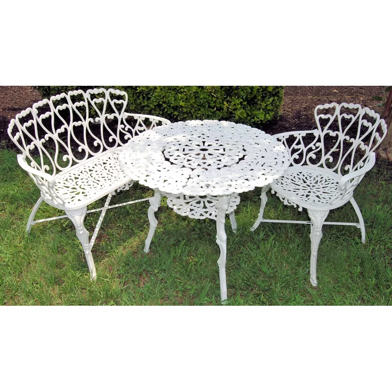 Rocha Cast Aluminum Garden Bench In 2021 Front Yard Decor Cast Iron Garden Furniture Backyard Decor