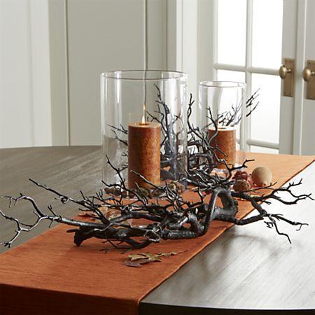 Grasscloth 90 Orange Table Runner #falldecorideas