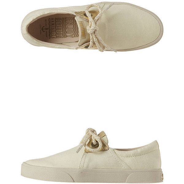 Armistice - Hope One Deauville Trainers (48 CAD) ❤ liked on Polyvore featuring shoes, sneakers and vanille
