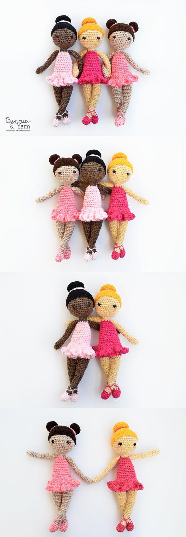 Crochet Pattern - Tracey the Ballerina Doll - Amigurumi   Bunnies ...